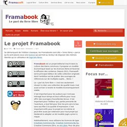 Le projet Framabook