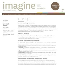 Le projet - Imagine demain le monde