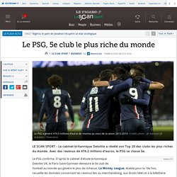 Le PSG, 5e club le plus riche du monde