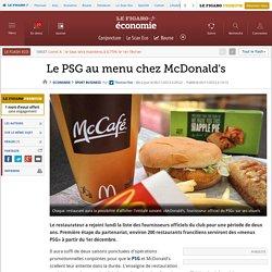 Le PSG au menu chez McDonald's
