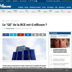 """Le """"QE"""" de la BCE est-il efficace ?"""