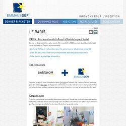Le RADIS - Emmaüs Défi
