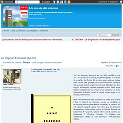 Le Rapport Fulcanelli (Ad. N.)