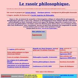 Le rasoir philosophique