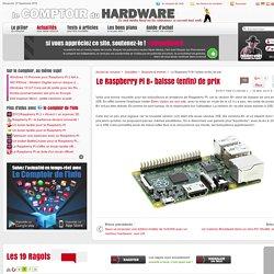Le Raspberry Pi B+ baisse (enfin) de prix