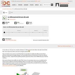 Le référencement de son site web - HTML / CSS