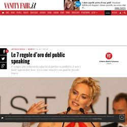 Le 7 regole d'oro del public speaking