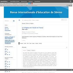 Le religieux et l'école en France