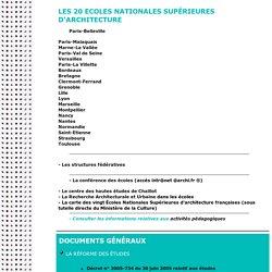 Les écoles d'architecture en France