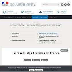 Le réseau des Archives en France