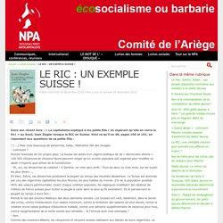 LE RIC : UN EXEMPLE SUISSE !