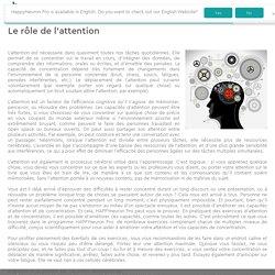 Le rôle de l'attention
