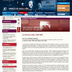 Le rôle de la radio, 1940-1944
