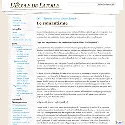 Le romantisme - L'École de Latoile