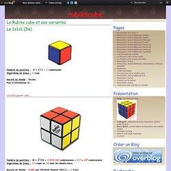 Le Rubiks cube et ses variantes - Les Rubiks cube