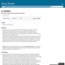 Le Rubric – enzozecchi