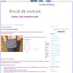 Le tuto du sac en jean's - Hélène coud