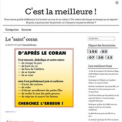 "Le ""saint"" coran"