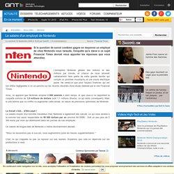 Le salaire d'un employé de Nintendo