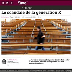 Le scandale de la génération X