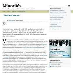 Le sida, tout de suite - Minorités