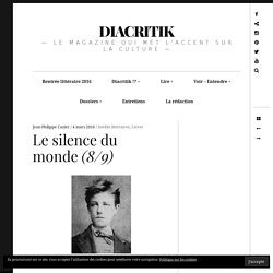 Le silence du monde (8/9) – DIACRITIK