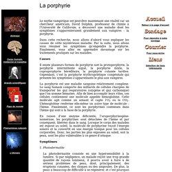 La porphyrie