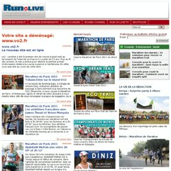 Run In Live: Le site de la course à pieds