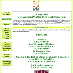 Le site des INFP (profil MBTI)