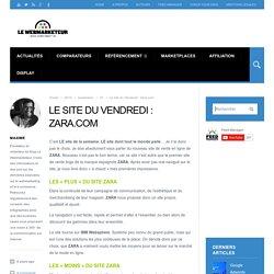 Le site du Vendredi : Zara.com