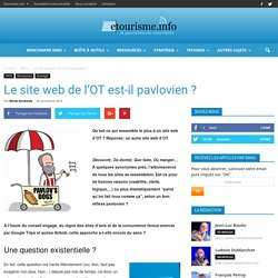 Article Etourisme.info // Le site web de l'OT est-il pavlovien ?
