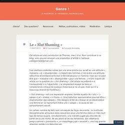 "Le ""Slut Shaming"""