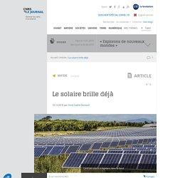 Le solaire brille déjà