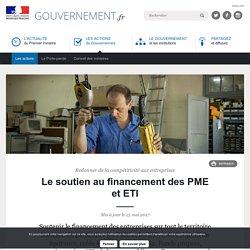 Le soutien au financement des PME et ETI