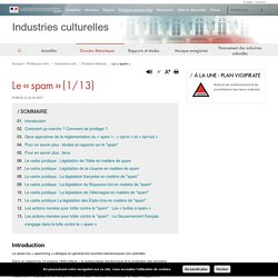 Le « spam » - Industries culturelles