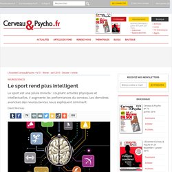 Le sport rend plus intelligent