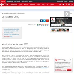 Le standard GPRS