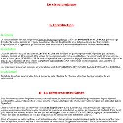 Le structuralisme (linguistique)