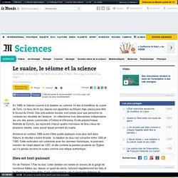 Le suaire, le séisme et la science