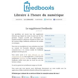 Le supplément Feedbooks – Blog Feedbooks