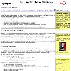 Le Supply Chain Manager