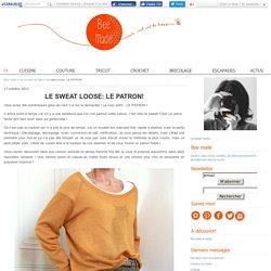 Le sweat loose: LE PATRON!