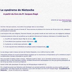 Le syndrome de Nietzsche
