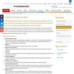 Le système bancaire canadien