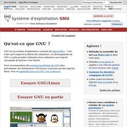 Le système d'exploitation GNU