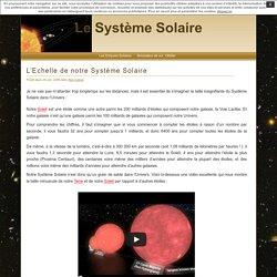 L'Echelle de notre Système Solaire