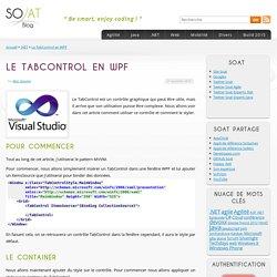 Le TabControl en WPF