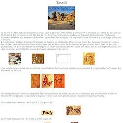 Oeuvres rupestres au Tassili N' Ajjer au centre du Sahara