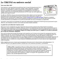Le TBI/TNI en univers social