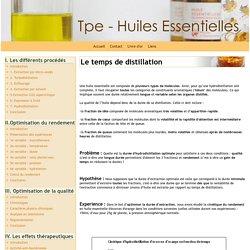 Le temps de distillation - TPE - extraction d'une huile essentielle